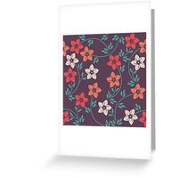 Stylish pattern with decorative flowers and leaves Greeting Card