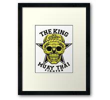 the king of muay thai fighter muaythai thailand martial art Framed Print
