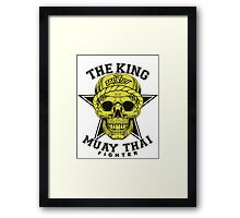 the king of muay thai fighter muaythai thailand martial art Framed Print