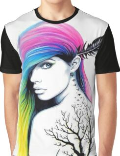 RAINBOW HAIR Graphic T-Shirt