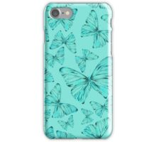 Turquoise Butterflies iPhone Case/Skin