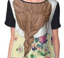 Cool Braided Hair Chiffon Top