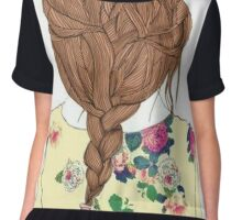 Cool Braided Hair Chiffon Top
