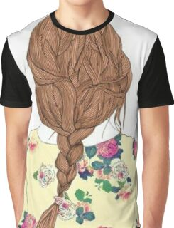 Cool Braided Hair Graphic T-Shirt