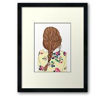 Cool Braided Hair Framed Print