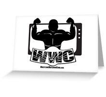 Wrestling Watching Club Glass Shatter BW Logo Greeting Card