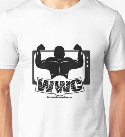 Wrestling Watching Club Glass Shatter BW Logo Unisex T-Shirt