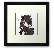 Anime Cat Woman Framed Print