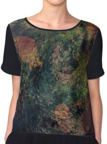 Abstract Accents and Contrasts Chiffon Top
