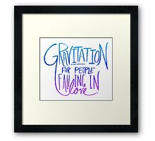 Einstein: Gravitation Framed Print