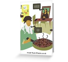 Dinner Time at the Da Mincis Greeting Card