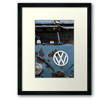 Rat look VW Camper van Framed Print