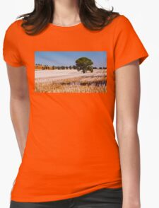 Tree in Field  Womens Fitted T-Shirt