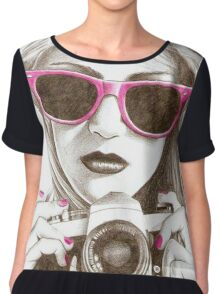 PHOTOGRAPHER GIRL Chiffon Top