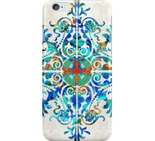 Colorful Pattern Art - Color Fusion Design 5 By Sharon Cummings iPhone Case/Skin