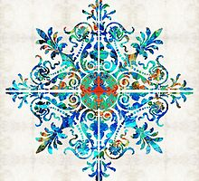 Colorful Pattern Art - Color Fusion Design 5 By Sharon Cummings by Sharon Cummings