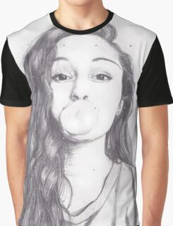 EMO- DRAWING OF A PRETTY GIRL Graphic T-Shirt