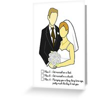 Jim and Pam Wedding - With Text Greeting Card