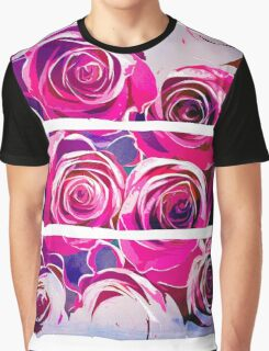 Roses in pink and purple Graphic T-Shirt