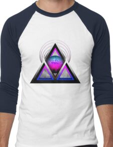 "Retro 80's Synthwave / New Retro Wave: Neon Nights (Without ""SynthWave"" Logo) Men's Baseball ¾ T-Shirt"