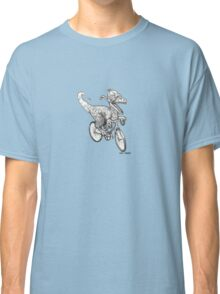 Steampunk Dinosaur on a Bicycle Classic T-Shirt
