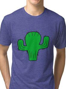 desert sweet cute little cactus comic cartoon baby child Tri-blend T-Shirt