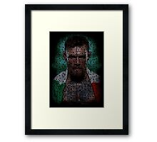 Conor Mcgregor (Superimposed) Framed Print
