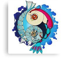 Paint-Splattered Aquatic Yin Yang - Milotic & Gyarados Canvas Print