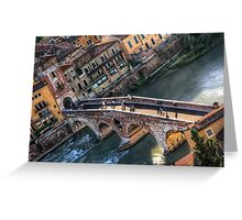 Ponte Pietra Verona  Greeting Card