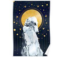 Celestial Borzoi Poster