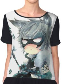 Cute ANime In Mask Chiffon Top