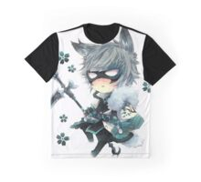 Cute ANime In Mask Graphic T-Shirt