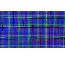 Random blue Tartan Photographic Print