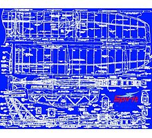 Spirit 2M Blueprint Photographic Print