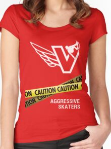 Aggressive Skaters  Women's Fitted Scoop T-Shirt