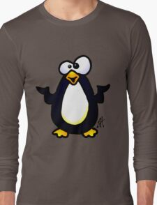 Pondering Penguin Long Sleeve T-Shirt