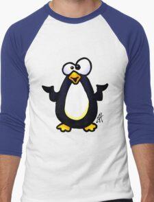 Pondering Penguin Men's Baseball ¾ T-Shirt