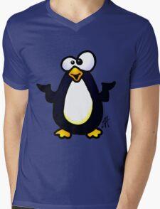 Pondering Penguin Mens V-Neck T-Shirt