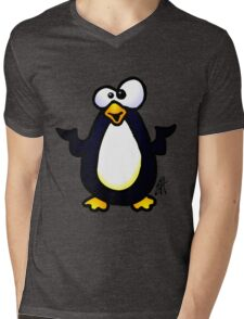 Pondering Penguin Mens V-Neck T-Shirt