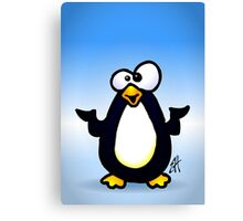 Pondering Penguin Canvas Print