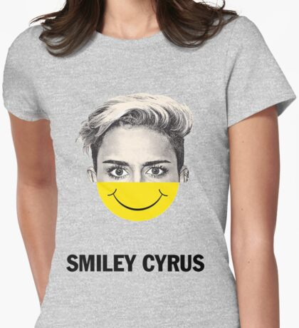 Smiley Cyrus Womens Fitted T-Shirt