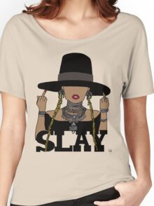 SLAY (Transparent BG) Women's Relaxed Fit T-Shirt