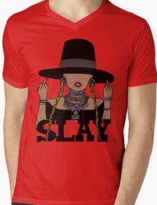 SLAY (Transparent BG) Mens V-Neck T-Shirt