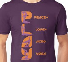 P+L+AY vertical poses - Orange Unisex T-Shirt