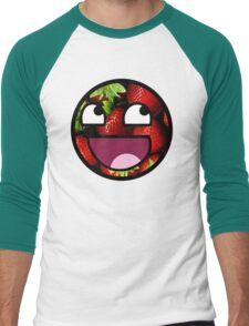 Strawberries Meme Face Men's Baseball ¾ T-Shirt