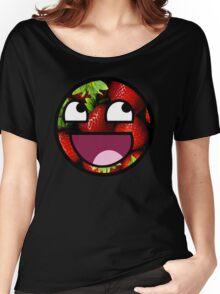 Strawberries Meme Face Women's Relaxed Fit T-Shirt