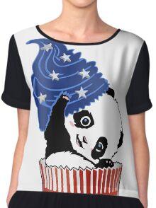 Panda America Cupcake  Chiffon Top