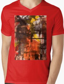 TIME IS THE FIRE IN WHICH WE BURN-PART 2—SCHWARTZ Mens V-Neck T-Shirt