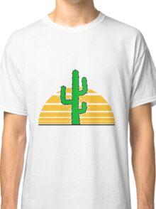desert sun sunset sunrise big cactus desert thorn Classic T-Shirt