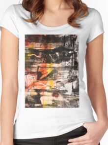 TIME IS THE FIRE IN WHICH WE BURN-PART 1—SCHWARTZ Women's Fitted Scoop T-Shirt